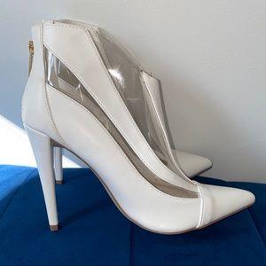 White semi-transparent booties